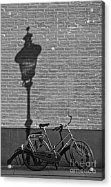 Parked Under The Lamp Post Acrylic Print by Inge Riis McDonald