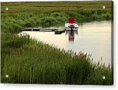Parker River Boat Acrylic Print by Gail Maloney
