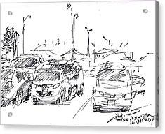 Parking Lot  Acrylic Print by Ylli Haruni
