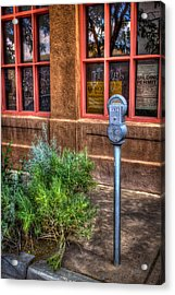 Acrylic Print featuring the photograph Parking Meter On Sidewalk by Dave Garner