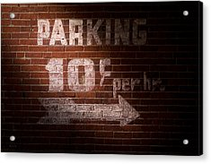 Parking Ten Cents Acrylic Print by Bob Orsillo