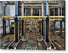 Parking Unreality Acrylic Print by Joanna Madloch