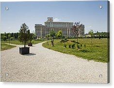 Parliament At Summer Bucharest Acrylic Print by Ioan Panaite