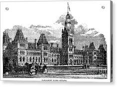 Parliament Building - Ottawa - 1878 Acrylic Print
