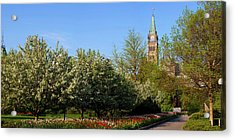Parliament Building Seen From A Garden Acrylic Print