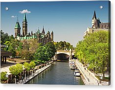 Parliament Building With Peace Tower Acrylic Print
