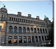 Parliament Buildings Acrylic Print by Val Carosella