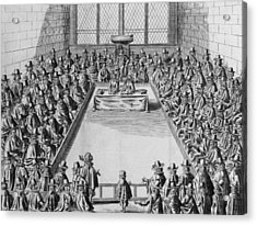 Parliament During The Commonwealth, 1650 Engraving Bw Photo Acrylic Print