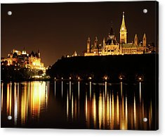 Parliament Hill And The Chateau Laurier Acrylic Print
