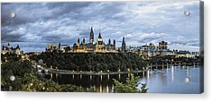 Parliament Hill At Night Acrylic Print