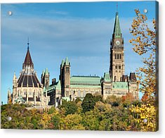 Parliament Hill In Autumn Acrylic Print