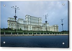 Parliament In Bucharest Acrylic Print by Ioan Panaite