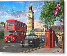 Parliament Square Acrylic Print by Dominic Davison