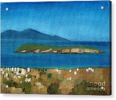 Paros Plain Air Acrylic Print by Kostas Koutsoukanidis