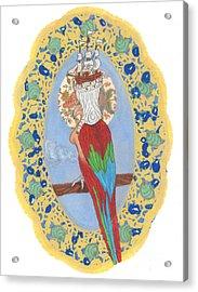 Parrot Girl Acrylic Print by Juliana Brandon