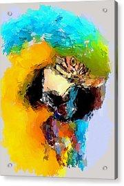 Parrot Thinking... Acrylic Print by Yury Malkov