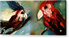 Parrots Acrylic Print by Pretchill Smith