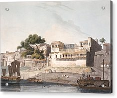 Part Of The City Of Patna, On The River Acrylic Print by Thomas Daniell