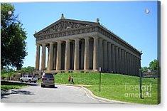 Parthenon In Nashville Acrylic Print by Paula Talbert