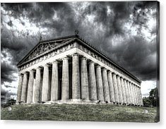 Parthenon Of Nashville Acrylic Print by Honour Hall