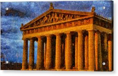Parthenon On A Stormy Day Acrylic Print