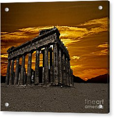 Parthenon Acrylic Print by Shirley Mangini