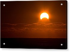 Partial  Eclipse Of The Sun Acrylic Print
