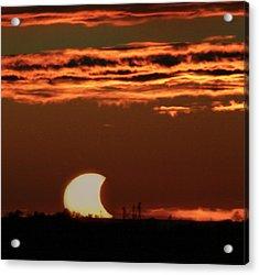 Pac-man Sun Acrylic Print