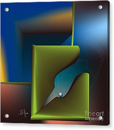 Particle Acrylic Print by Leo Symon