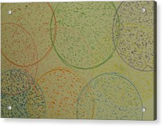 Acrylic Print featuring the drawing Particles Of Light by Thomasina Durkay