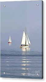Parting Fog Acrylic Print by Paul Tagliamonte