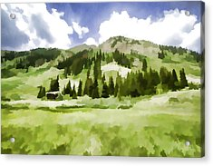 Partly Cloudy Acrylic Print