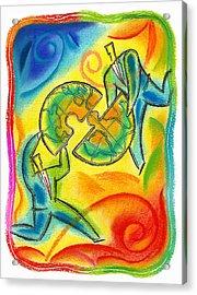 Partnership Acrylic Print by Leon Zernitsky