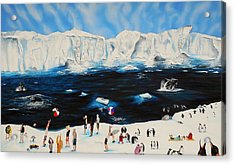 Party At Antarctic Acrylic Print