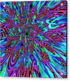 Party Acrylic Print by First Star Art
