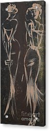 Party Ladies Acrylic Print by Roni Ruth Palmer