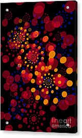Party Time Abstract Painting Acrylic Print by Claudia Ellis