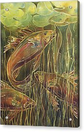 Party Under The Lily Pads II Acrylic Print