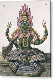 Parvati, From Voyage Aux Indes Et A La Acrylic Print by Pierre Sonnerat