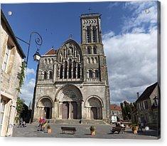 parvis de la Basilique Sainte-Marie-Madeleine de Vezelay Acrylic Print