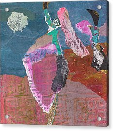 Acrylic Print featuring the mixed media Pas De Deux by Catherine Redmayne