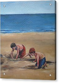 Pass Christian Brothers Acrylic Print by Julie Dalton Gourgues
