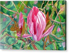 Acrylic Print featuring the painting Passage by Debi Singer