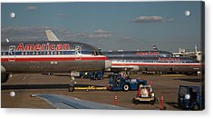 Passenger Airliners At An Airport Acrylic Print