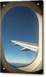 Passenger Airplane In Flight Acrylic Print by Jim West