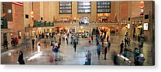 Passengers At A Railroad Station, Grand Acrylic Print by Panoramic Images