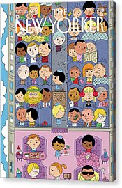 Passengers Travel On A Plane Acrylic Print by Ivan Brunetti