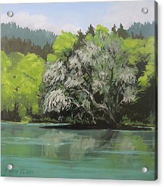 Acrylic Print featuring the painting Passing by Karen Ilari