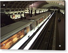 Passing Metro Train Acrylic Print