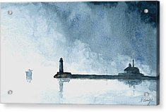 Passing Storm - Duluth Harbor Acrylic Print by William Beaupre